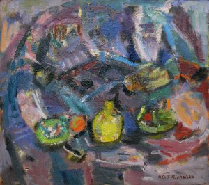 Halina Centkiewicz-Michalska (1912-2007), W niebieskim kręgu, 1988 r.