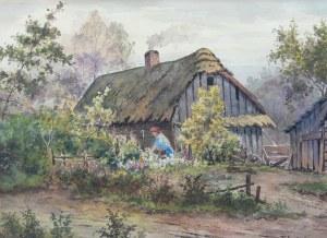 Tadeusz Nartowski (1892 Zręby k. Łomży - 1971 Szczecin), Przed wiejską chatą