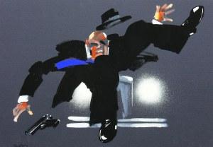 Waldemar Świerzy (1931 Katowice-2013 Warszawa), Solo 1 (2) z serii Gangsterzy, 2004 r.
