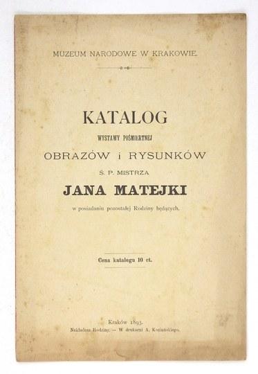 Muzeum Narodowe w Krakowie.Katalog wystawy pośmiertnej obrazów i rysunków ś....