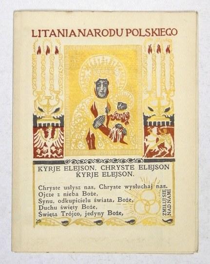 LITANIA Narodu Polskiego. Zdobił Jan Bukowski. 1915.