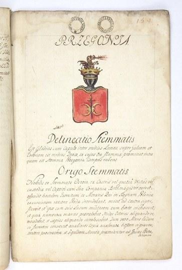 [DULSCYherbu Przeginia, poświadczenie szlachectwa]. Rękopis po łacinie, dat. 23 VI 1783 we Lwowie.