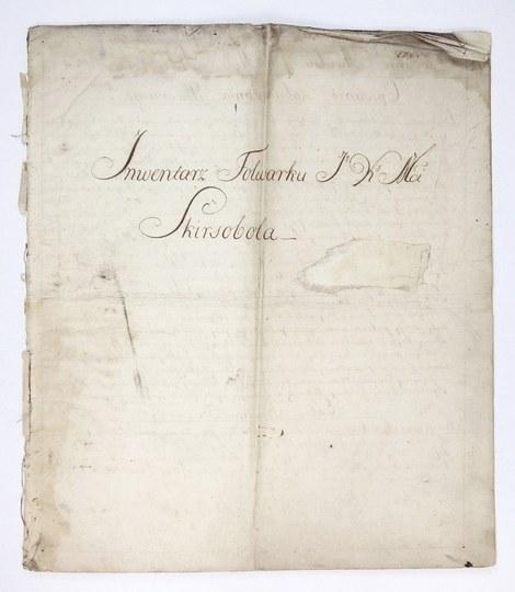 [LITWA]. Inwentarz dóbr królewskich Skirsobole na Litwiesporządzony w m. Olita 1 VII 1792 r.