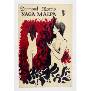[PROJEKTokładki]. Odręcznie wykonany projekt okładki do książki Desmonda Morrisa Naga małpa...
