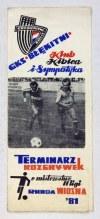 [SPORT, piłka nożna]. Zbiór pięciu programów zawodów piłkarskich z lat 1977-...