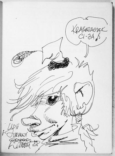 Pierwsze wydanie Szninkiela z rysunkiem i dedykacją G. Rosińskiego.