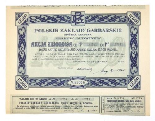 POLSKIEZakłady Garbarskie, Spółka Akcyjna, Kraków-Ludwinów. Akcja zbiorowa [...]...