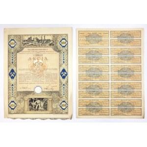 SIERSZAŃSKIEZakłady Górnicze, Spółka Akcyjna w Sierszy [...]. Akcja na 100 (sto) złotych [...]...