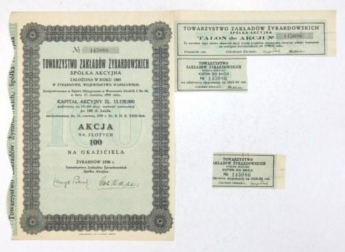 TOWARZYSTWOZakładów Żyrardowskich, Spółka Akcyjna, założona w roku 1885 w Żyrardowie, województwo warszawskie [...]...