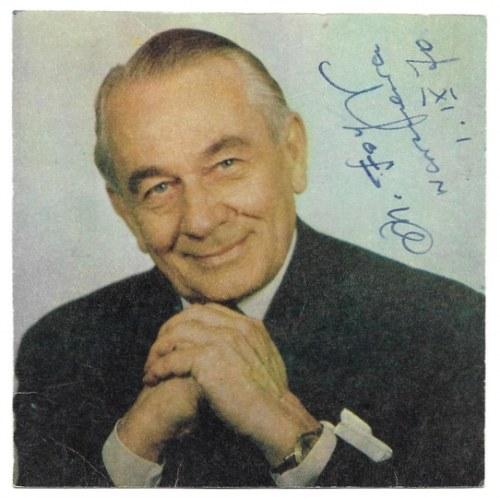 [FOGGMieczysław]. Zdjęcie piosenkarza z jego odręcznym podpisem, dat. 1 IX 1970 w Warszawie.