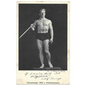 [ISMAYR Rudolf]. Dwie odręczne dedykacje na fotografii, 1932/1934.