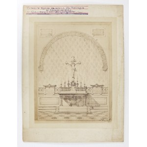 [ARYSTOKRACJA - Potoccy - ołtarz w krypcie grobowca w klasztorze OO. Bernardynów w Krystynopolu]. [1892]...