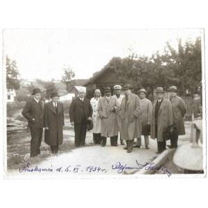 BELINA-PRAŻMOWSKI W. – w Truskawcu, 6 VI 1934. z podpisem R. Jarosza, właściciela uzdrowiska.