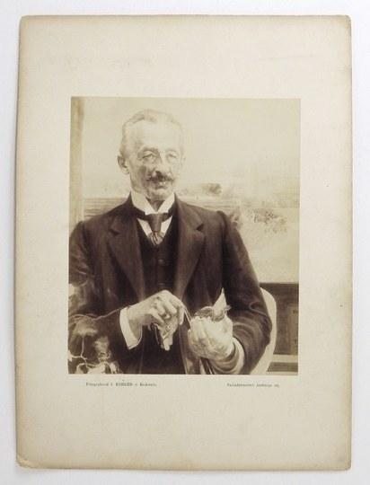 [MALCZEWSKI Jacek - reprodukcja fotograficzna obrazu Portret Józefa Sarego]. [nie przed 1913]. Fotografia form....
