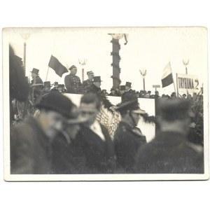 Prezydent I. Mościcki podczas obchodów Święta Niepodległości w Warszawie w 1933.