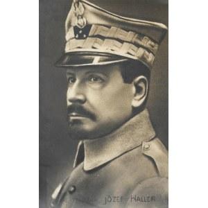 [WOJSKO Polskie - gen. Józef Haller - fotografia portretowa]. [1918?]. Fotografia pocztówkowa form. 13,3x8,...