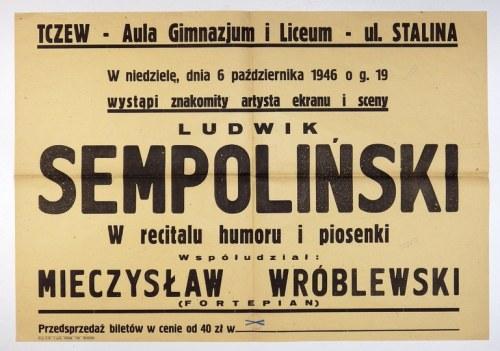 TCZEW– Aula Gimnazjum i Liceum– ul. Stalina. W niedzielę, dnia 6 października 1946 [......