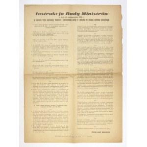 Obostrzenia w handlu w związku z wymianą pieniądza. 1950.