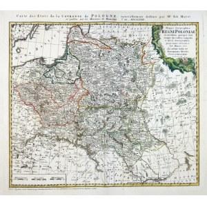 [POLSKA]. Mappa Geographica Regni Poloniae. 1773. - [POLSKA]. Mappa Geographica Regni Poloniae ex novissimis quot quot s...
