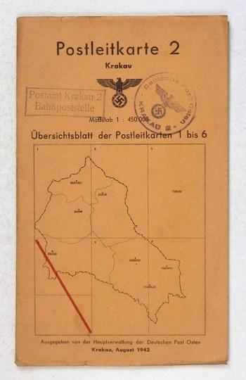 [MAŁOPOLSKA]. Postleitkarte 2. Krakau. Mapa dwubarwna form. 49,4x46,3 cm.