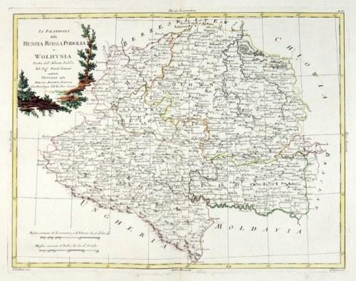 [PODOLE, Wołyń]. Li Palatinati della Russia Rossa, Podolia e Wolhynia. Tratte dall'Atlante Polac[c]...