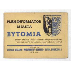 [BYTOM]. Bytom, Górny Śląsk. Plan barwny form. 41,2x52 cm.