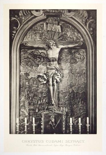 [KRAKÓW]. Chrystus cudami słynący. Rzeźba Wita Stwosza w kościele Najśw. Marji Panny w Krakowie. Heliograwiura form....