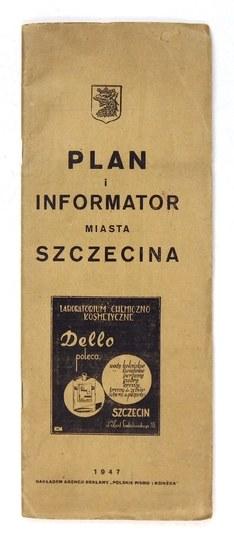 [SZCZECIN]. Plan miasta Szczecina. Plan jednobarwny form. 67,8x59,4 cm.
