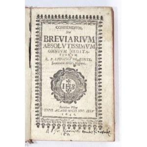 Siedemnastowieczny brewiarz wileński.