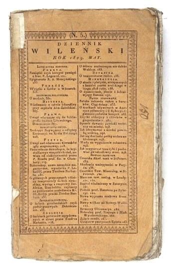 DZIENNIK Wileński. V 1829.