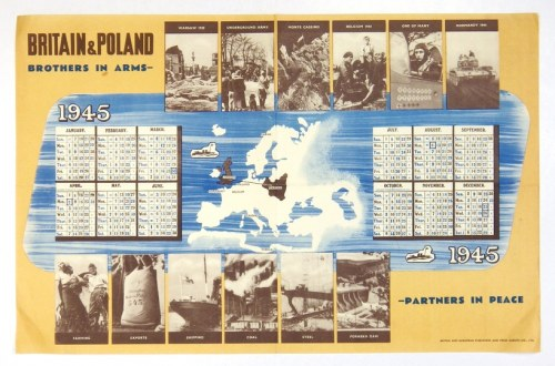 [KALENDARZ]. Britain & Poland. Brothers in Arms - Partners in Peace. 1945. B. m. [1944]...