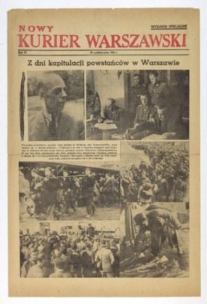 NOWYKurier Warszawski. 28 X 1944. Upadek powstania warszawskiego.