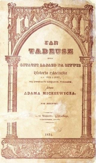 Pan Tadeusz z pieskami. Jedyny znany egzemplarz poza zbiorami publicznymi!