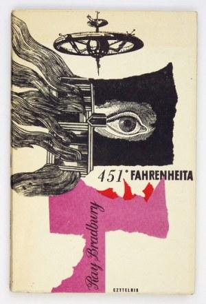 BRADBURY R. – 451º Fahrenheita. 1960. Obwoluta Romana Cieślewicza.