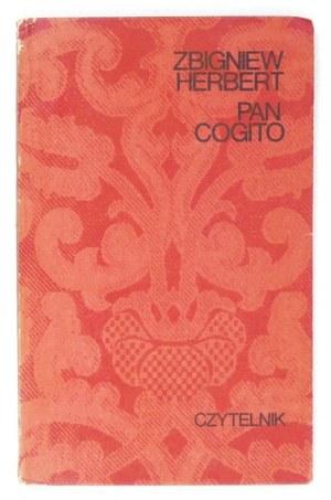 HERBERT Z. – Pan Cogito. Pierwsze wydanie.