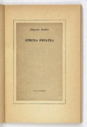 HERBERT Z. – Struna światła. Pierwsze wydanie.