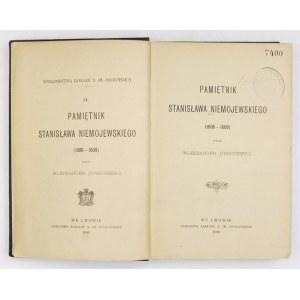NIEMOJEWSKI Stanisław - Pamiętnik ... (1606-1608). Wydał Aleksander Hirschberg. Lwów 1899. Ossolineum. 8, s. XXXII,...