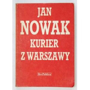 NOWAK J. - Kurier z Warszawy. Dedykacja autora. 1989.