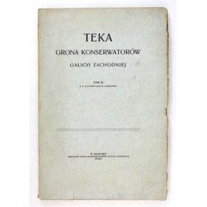 TEKAGrona Konserwatorów Galicyi Zachodniej. Kraków. Grono Konserwatorów Galicyi Zach., Druk UJ. 4. brosz. T....