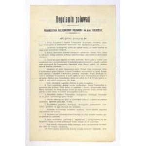 REGULAMINpolowań Towarzystwa Racjonalnego Polowania na pow. Kolneński [...].. [Kolno 1928]. 4, s. 3....
