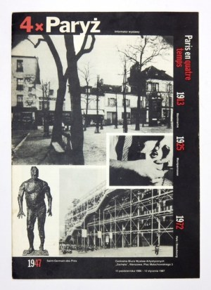 4 x Paryż. Informator wystawy. Warszawa, X 1986-I 1987.
