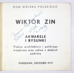 Katalog wystawy prac W. Zina z dedykacją artysty.