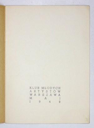 Katalog debiutanckiej wystawy Fangora w 1949.