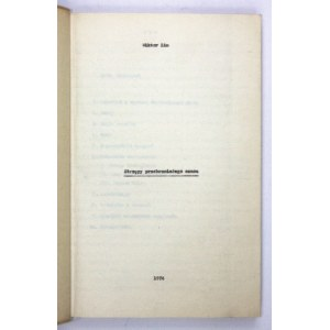 ZIN Wiktor - Strzępy przebrzmiałego czasu [maszynopis]. [Kraków] 1974. 4, k. [1], 175....