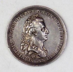 Medal z okazji uchwalenia Konstytucji 3 Maja 1791 roku, jeden z dwóch wybitych w epoce.