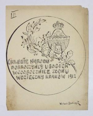 Projekt rewersu medalu ku czci Piotra Skargi z 1912 r.