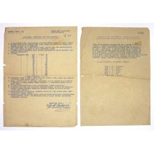 [LUBEKA, polskie obozy wysiedleńcze]. Dwa maszynopisowe dokumenty z obozu wysiedleńczego w Lubece z 1946.