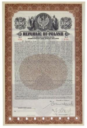 3% DOLLARFunding Bond, Stabilization Loan Series, Due 1956. 100 $.