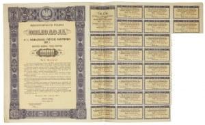 OBLIGACJA4 1/2% Wewnętrznej Pożyczki Państwowej 1937 r. wartości imiennej tysiąc złotych [...].