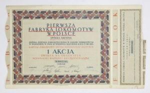 PIERWSZA Fabryka Lokomotyw w Polsce FABLOK, spółka akcyjna [...]. 1 akcja zwykła na okaziciela nominalnej wartości 100 z...